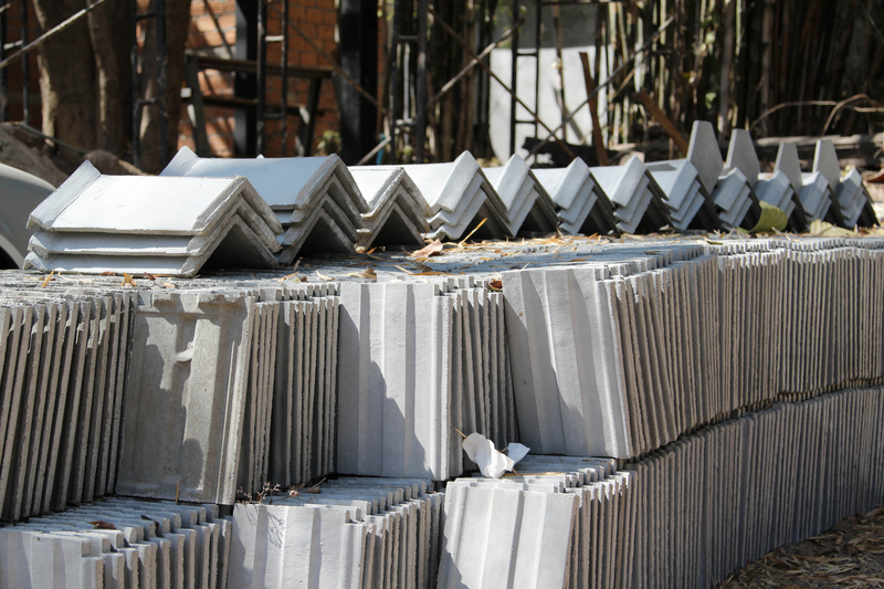 Stacks of Concrete Roof Tile on the ground in San Antonio